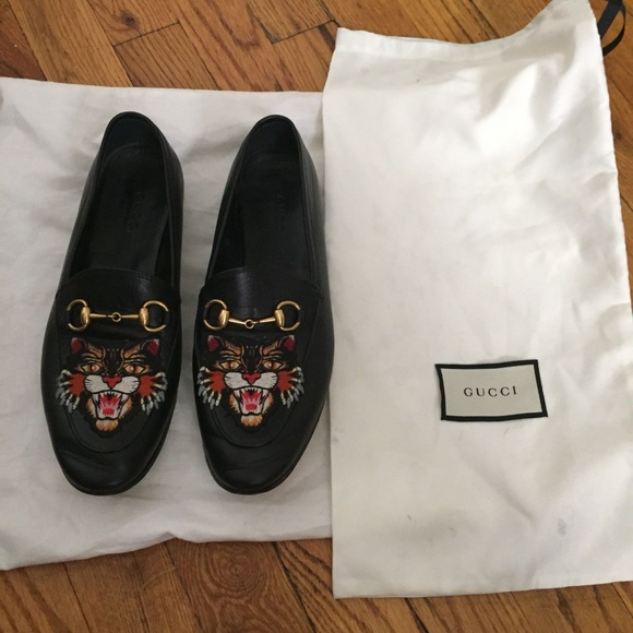 450fd4b6a36 Gucci Shoes - GUCCI Angry Cat Patch Loafer Msrp  850 Size 6